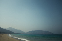 beach and mountainous coastline