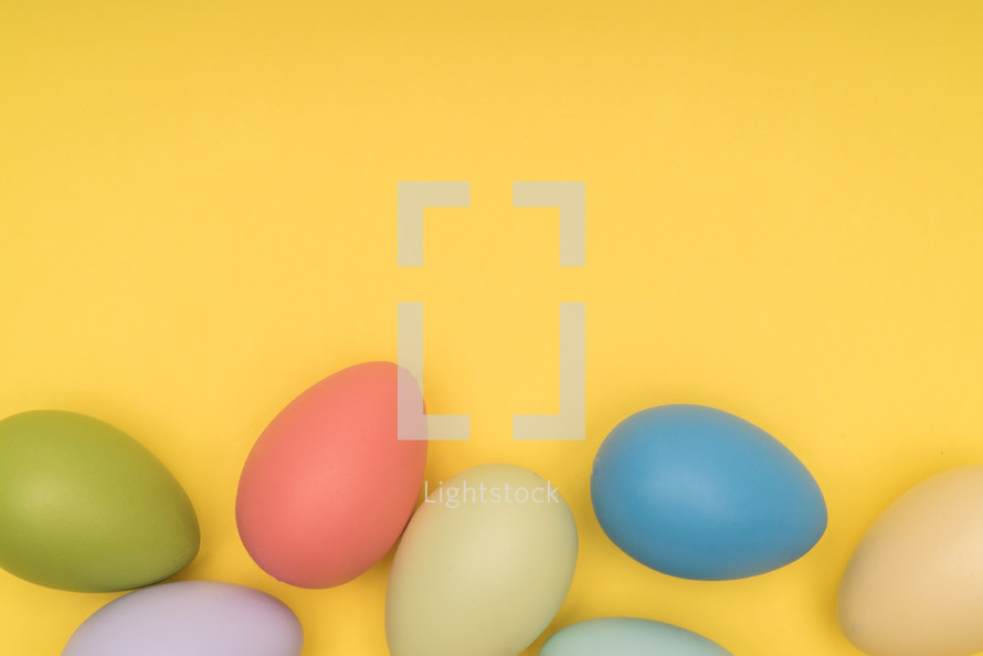 Easter egg on a yellow background