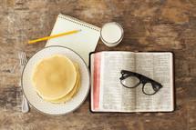 Breakfast bible study.