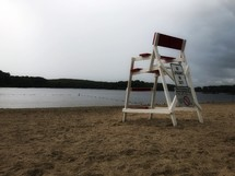 lifeguard chair stand on a beach