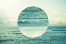 abstract water background with circle