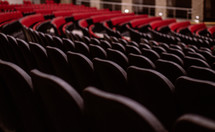 rows of seats in an auditorium