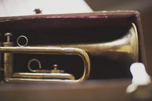 a trumpet in case