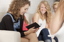 Teen girls' Bible study.