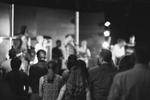 congregation singing worship music