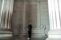 inside the Lincoln Memorial
