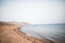 gravel along a coastline