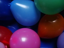 Colorful balloons.