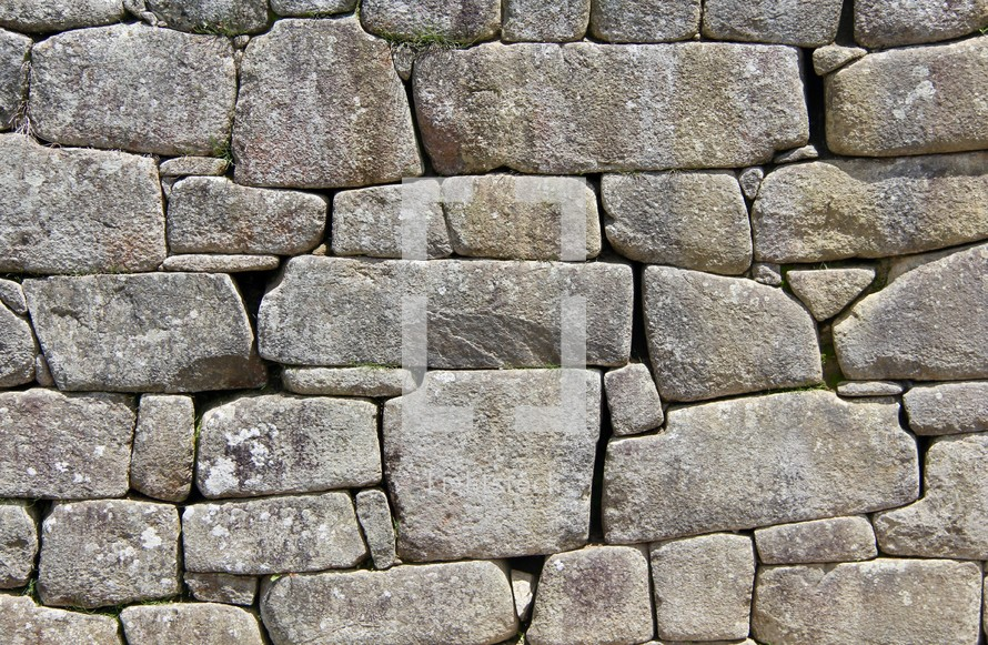 stacked stone wall in Peru