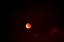 Super Blood moon, Lunar eclipse as seen from Israel, at the evening of the feast of tabernacles in 2015. This is the second super blood moon in 2015, the first one was on the evening of passover. The Jewish calendar is based on the moon.