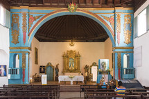 altar in a Catholic church