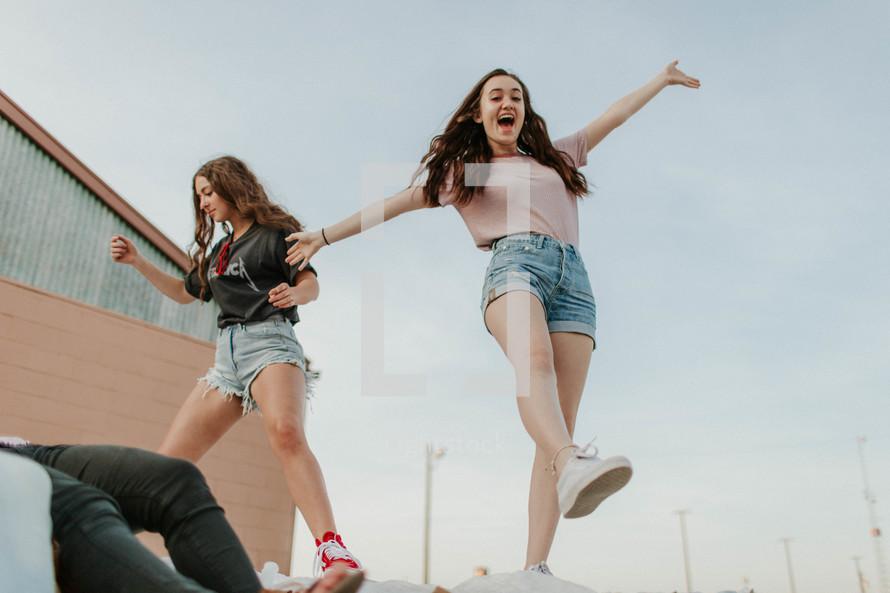 energetic teen girls