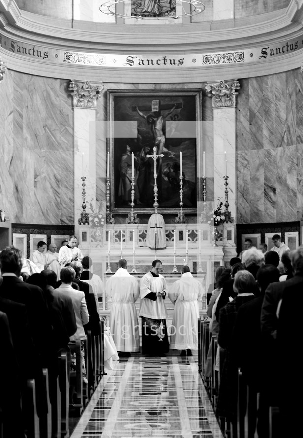 Mass in a Catholic cathedral.