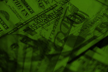 money background in green