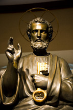 SAINT PETER HOLDING KEY OF HEAVEN STATUE