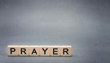 word prayer in scrabble pieces