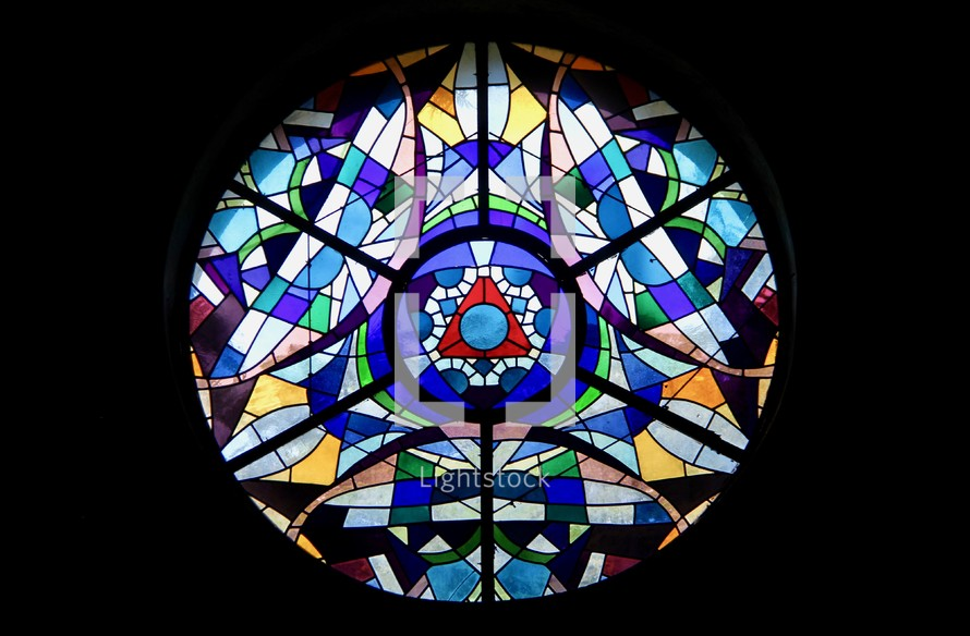 Circular stained glass window