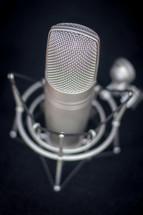 Radio broadcasting microphone.