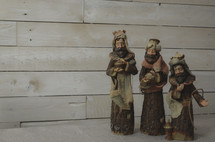 wise men figurines in a Nativity scene