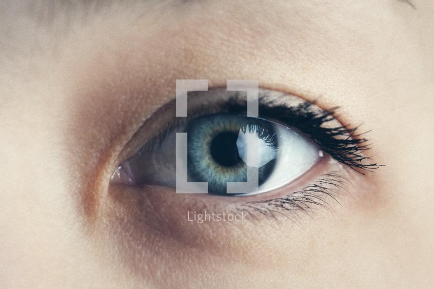 Woman's eye.