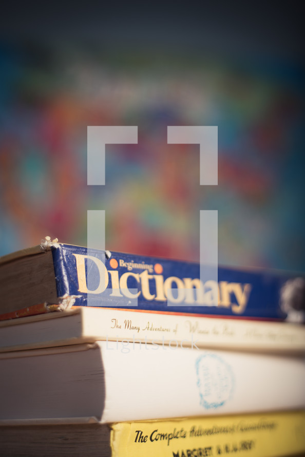 dictionary and books