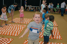 children playing games at VBS