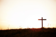 A cross at sunset