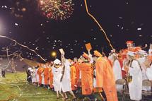 celebrating high school graduates