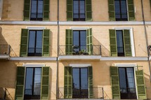 shutters, windows, and terraces