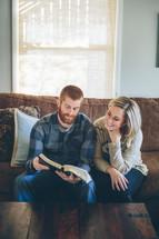 couple reading a Bible