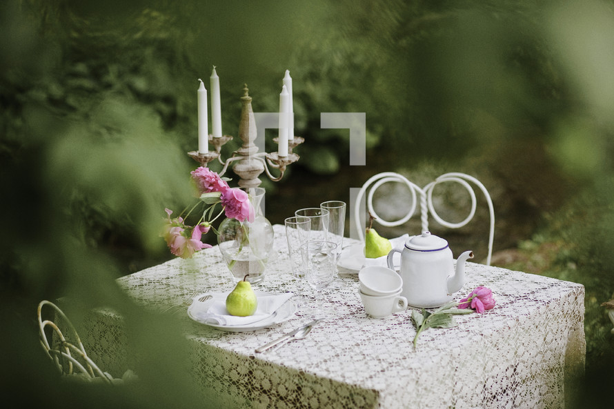 garden tea party outdoors