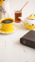Bible and tea