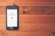 Gospel of Mark on an iPhone