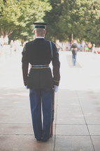 Soldier's guarding the tomb of the unknown soldier