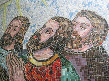 mosaic tiles of Jesus
