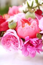 fuchsia flower arrangment