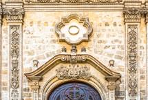 stone emblem on a church wall