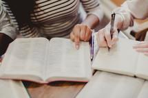woman's Bible study group