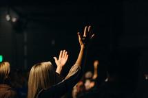 hands raised in praise