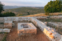 ruins on a hillside in Jordan