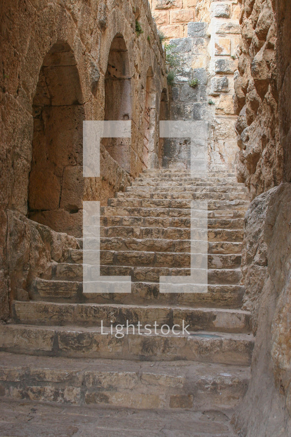 stone steps in ruins
