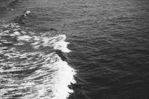 boat trail in water