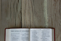 Bible opened to Song of Solomon