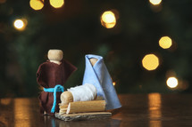 handmade nativity figurines