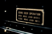 Bomb door operation sign
