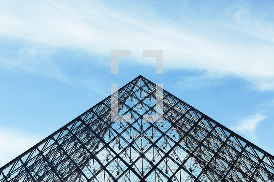 glass pyramid roof