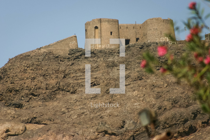 castle ruins in Yemen