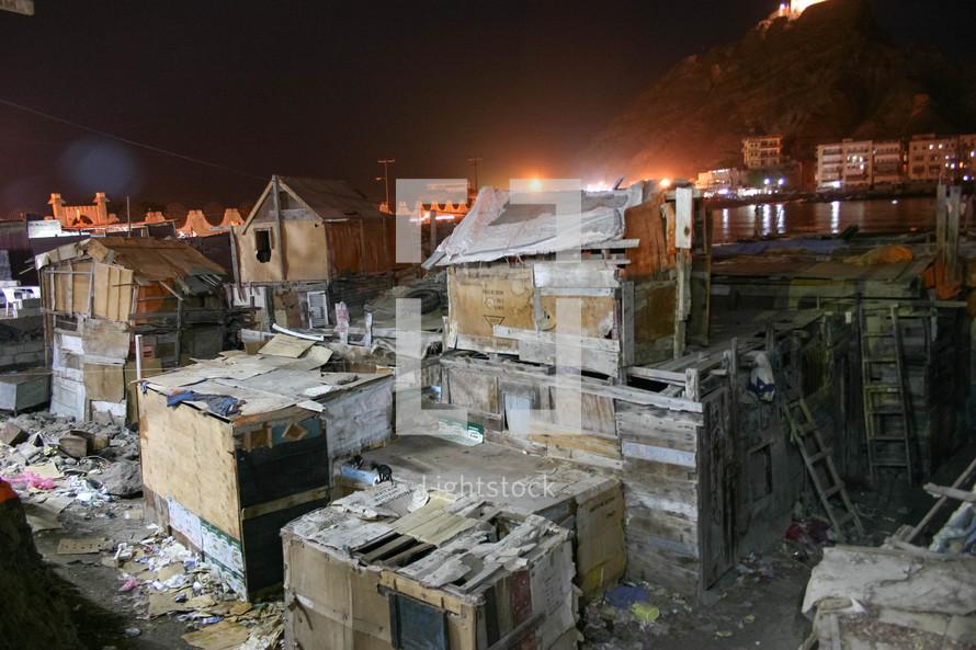 shacks in Yemen