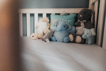 toys in a crib