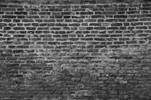 Brick wall in black & grey scale